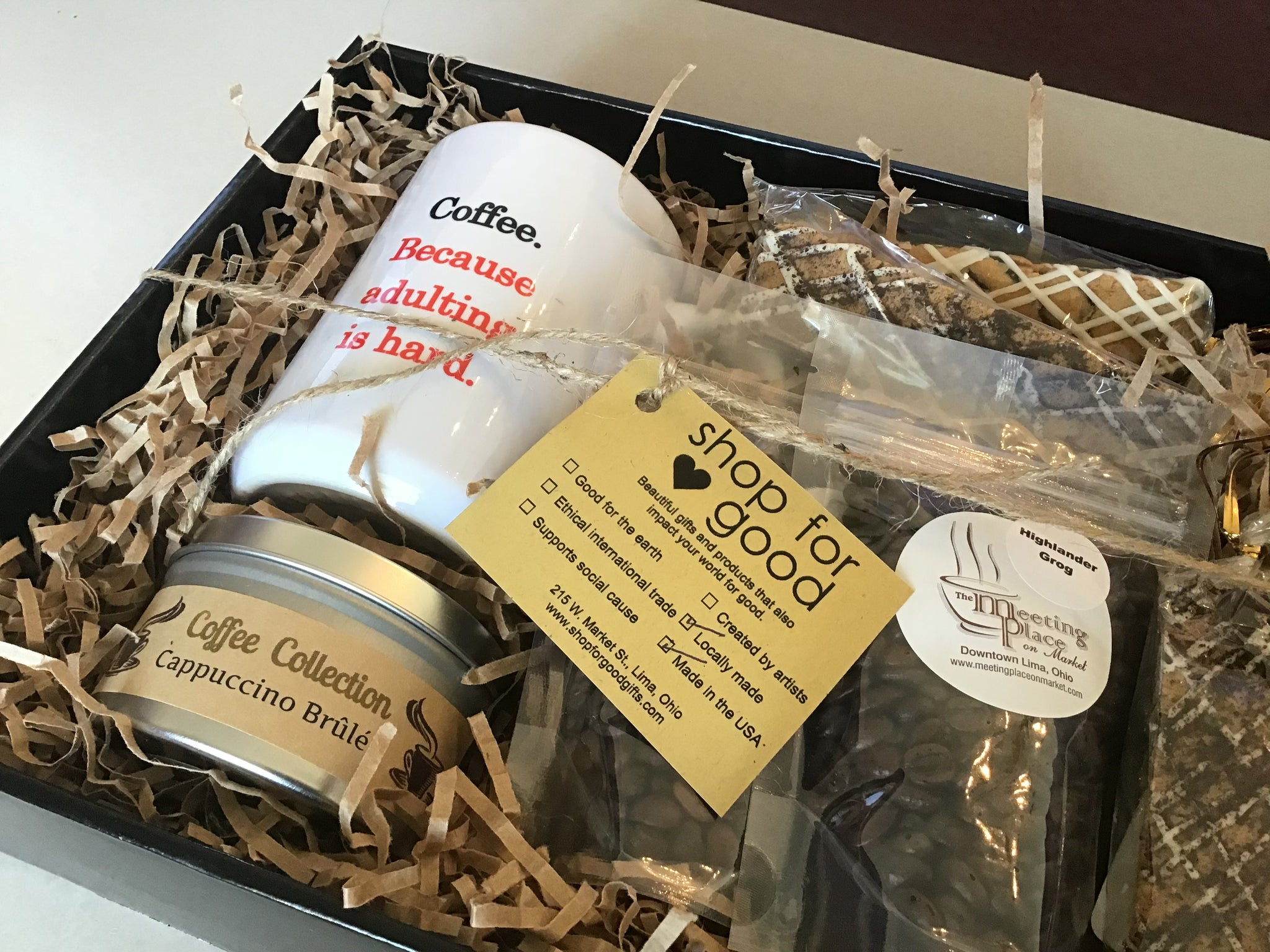 Coffee Deluxe Gift Basket For Birthday Housewarming Hostess