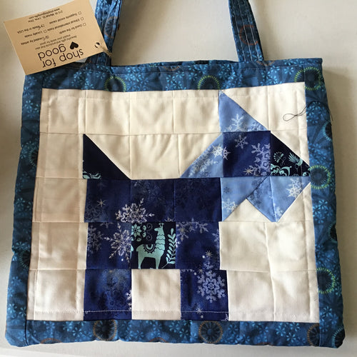Quilted handmade Purse with Scotty dog motif