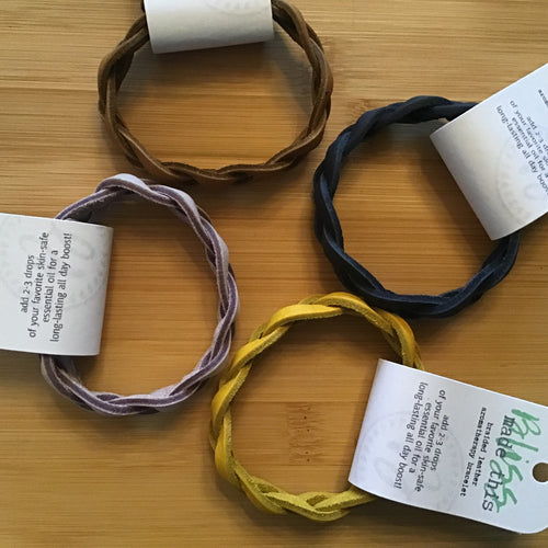 Aroma therapy leather bracelet