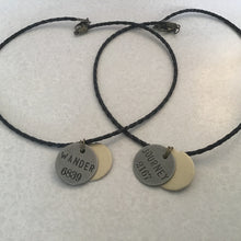 Word stamped coin necklaces