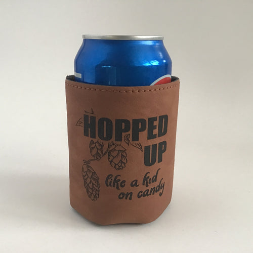 "Leather cozy ""Hopped up"""