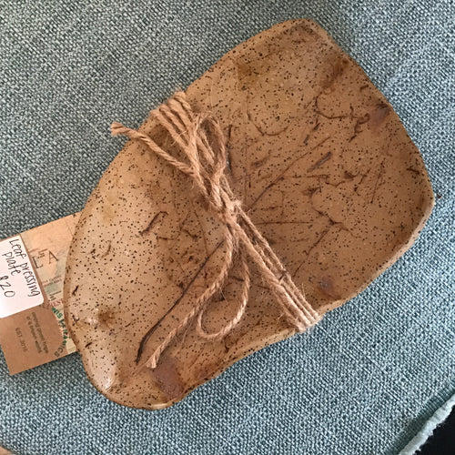 Leaf pressing plate, pottery by T Lewis Ceramics