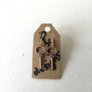 Open key earrings