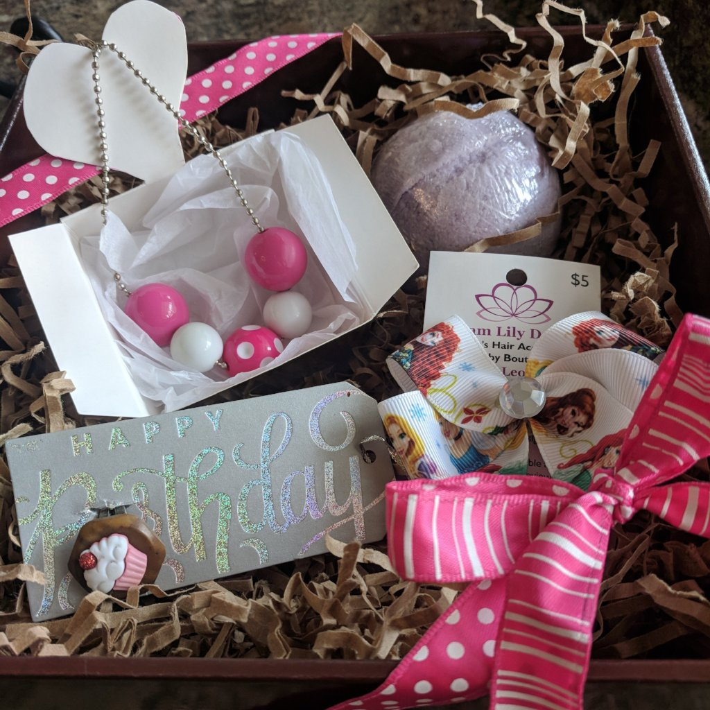 Girl's Birthday Present Gift Basket