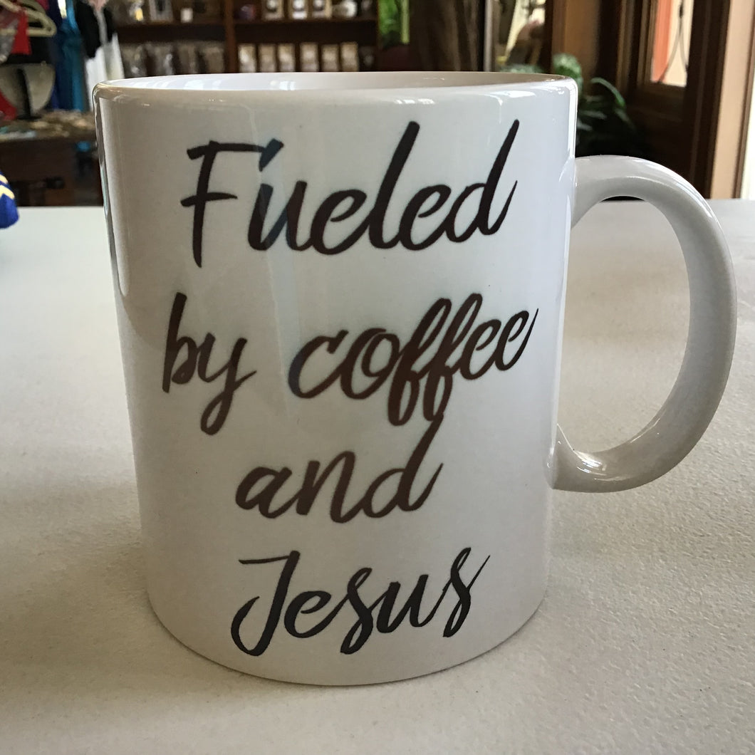 Fueled by coffee and Jesus mug