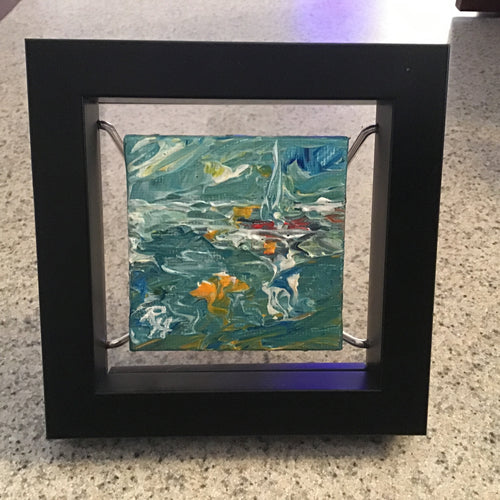 "Rhonda Hager original ""Moonlight Sail"" (#228)"