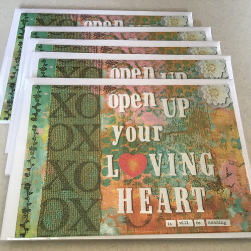Open up your loving heart, note card 5x7""