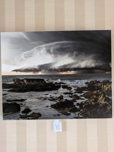 "Stormy lake, 16""x20"" canvas print"