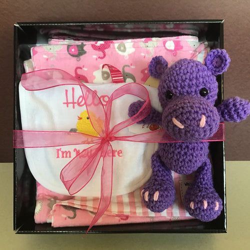 Baby Girl Gift Basket, baby shower gift, new baby gift