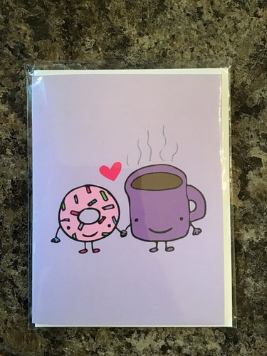 Coffee and Donut Card