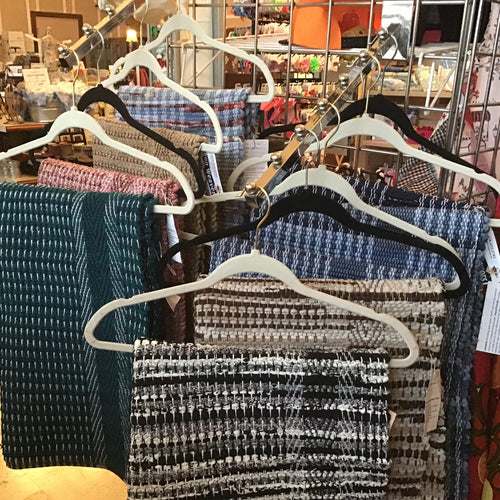 Handmade woven rugs- denim and flannel blend