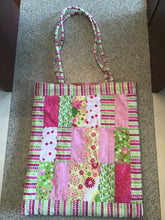 Homemade quilted tote bag