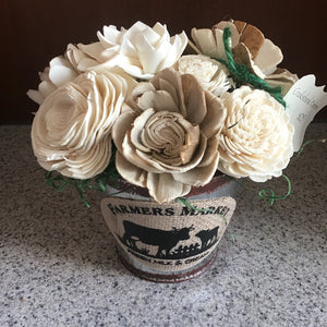 Farmer's Market Tin Centerpiece