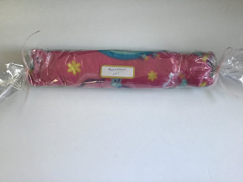 Handmade microwaveable hot pack in pink unicorn print