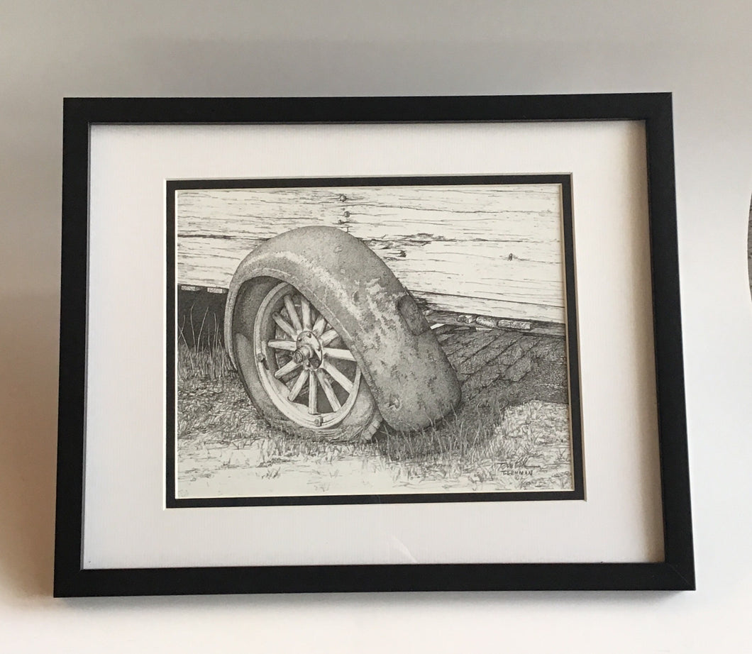 """Just Rusting Around"" framed limited print by Tom Lehman"