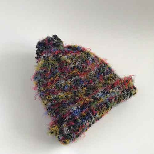 Super soft multicolored hat