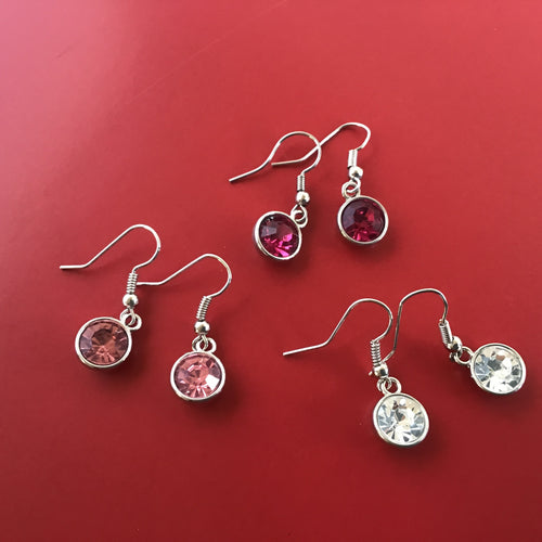 Gemstone look earrings