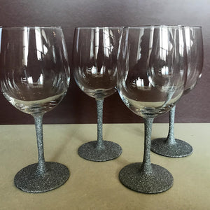Wine Glass Set - Glitter