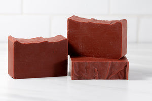 Goat Milk, Pink Clay, Castor & Tea Tree Oil Shampoo Bar - 4 oz Bar