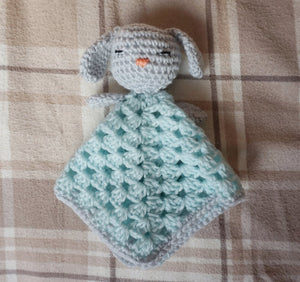 Bunny Lovey Baby Safety Blanket Crochet Pattern