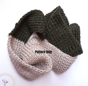 Knitted Scarf Pattern (Contrasting Colours)