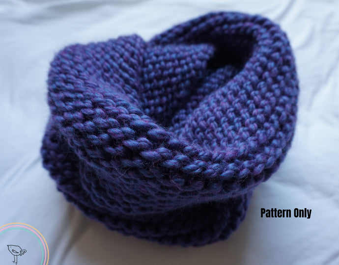 Knitted Infinity Scarf Pattern
