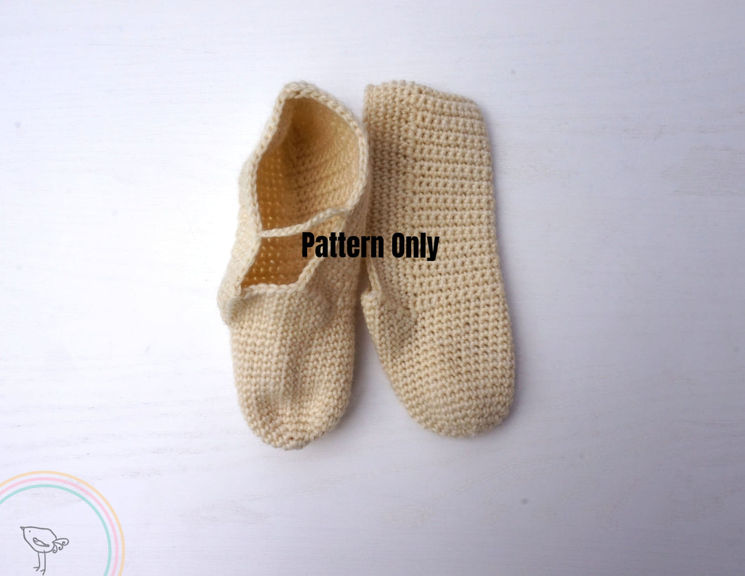 Mary Jane Crochet Slippers Pattern