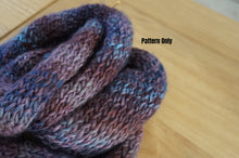 Two Skein Knitted Infinity Scarf Pattern