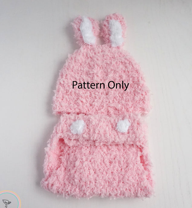 Crochet Bunny Hat and Diaper Cover Pattern