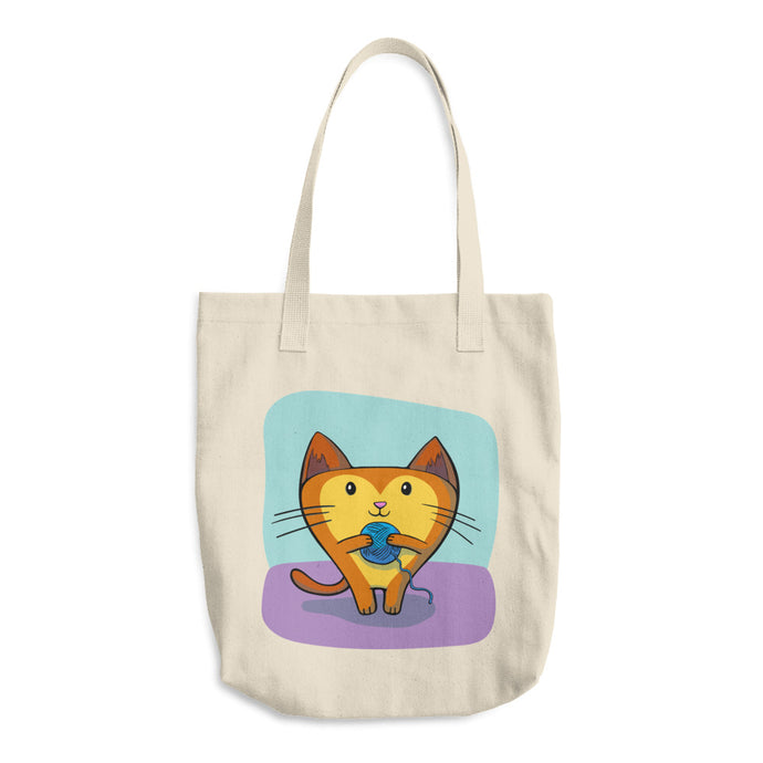 Cat More Yarn Cotton Craft Tote Bag