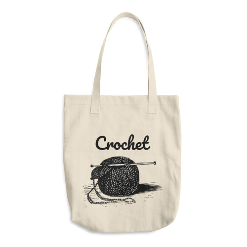 Crochet Yarn Ball Cotton Tote Bag