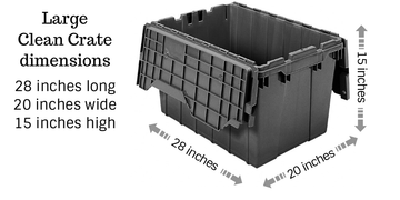 Large Clean Moving Crate