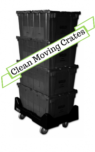 1-2 Bedroom Package - Reusable Plastic Moving Crates, houston plastic moving crates, plastic moving crates, reusable moving crates, plastic moving boxes, clean moving crates, moving supplies, moving boxes