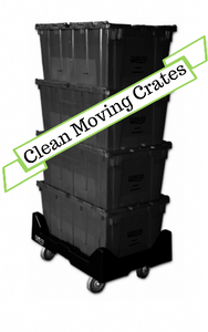 Extra-Large Business Package (21-30 Employees) - Reusable Plastic Moving Crates, Reusable Plastic Moving Crates, houston plastic moving crates, plastic moving crates, reusable moving crates, plastic moving boxes, clean moving crates, moving supplies, moving boxes, office moves, houston office moves, plastic stackable crates