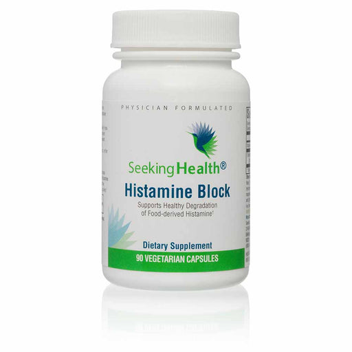 Histamine Block - 90 Capsules - Seeking Health- Bottle Front View
