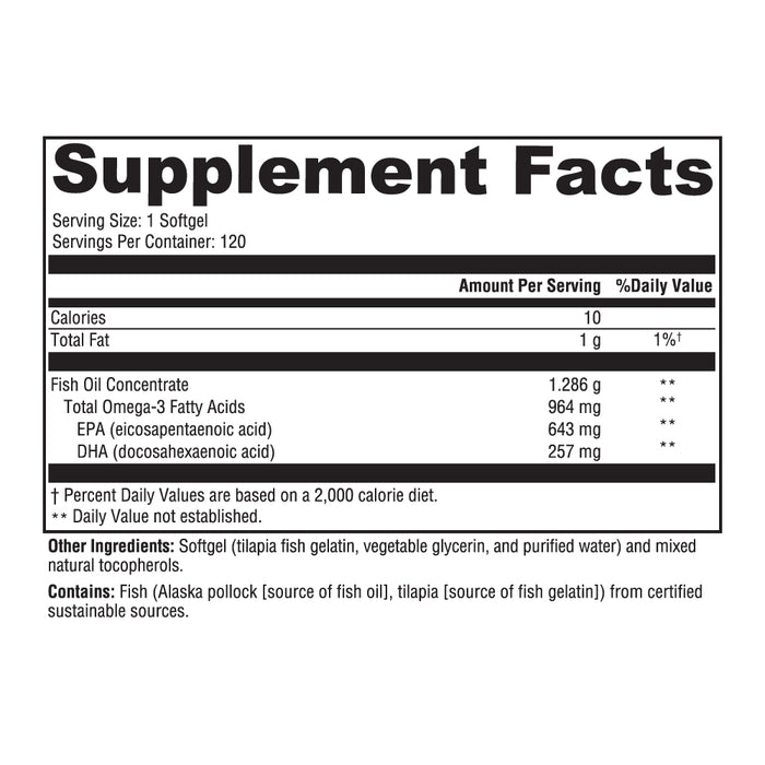 Optimal Fish Oil - 120 Softgels