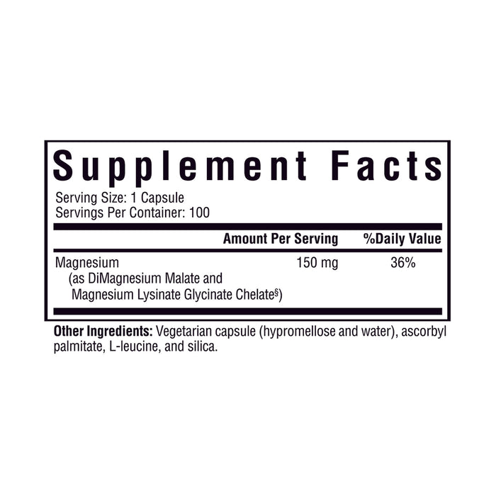 Optimal Magnesium - 100 Capsules