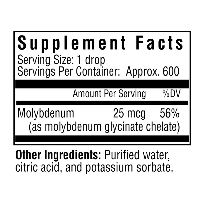 Optimal Molybdenum Drops - 600 Servings