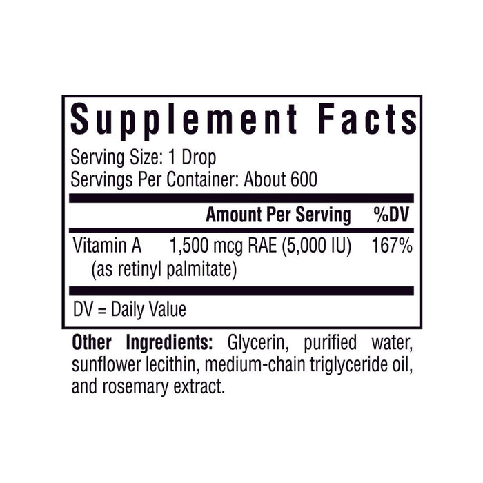Vitamin A Drops - 600 Servings