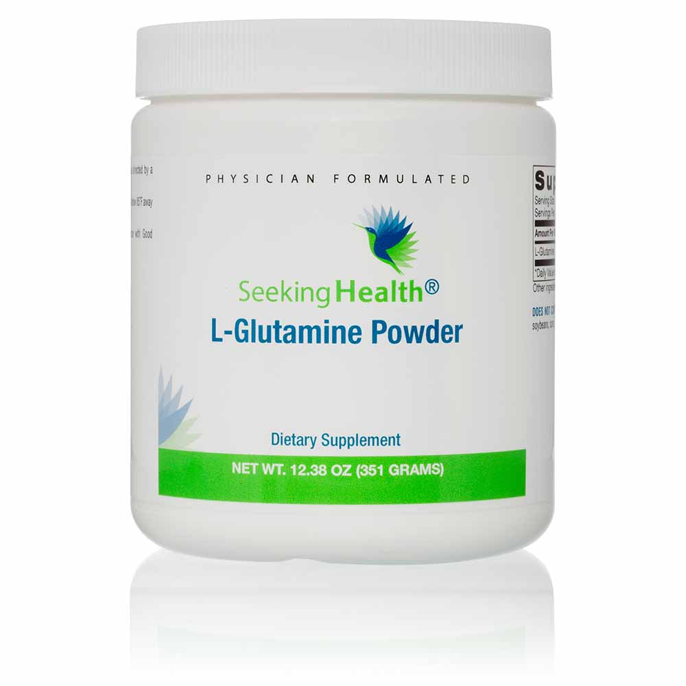 L-Glutamine Powder - 60 Servings - Front Canister View