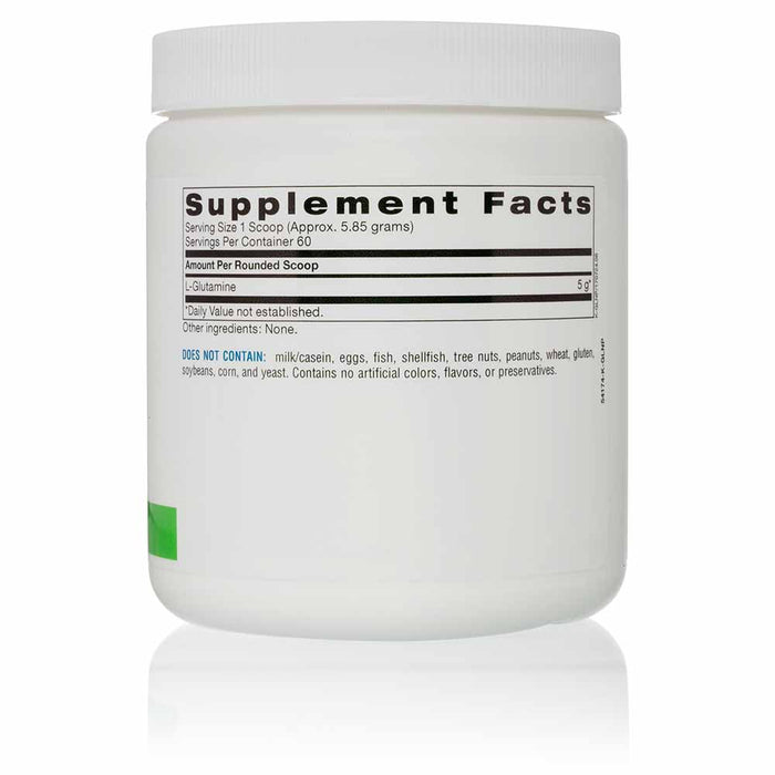 L-Glutamine Powder - 60 Servings - Supplement Facts Canister View