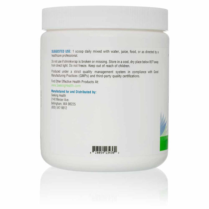 L-Glutamine Powder - 60 Servings - Instructions Canister View
