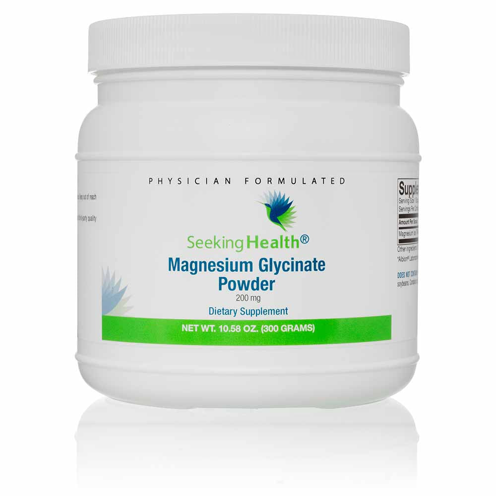 Magnesium Glycinate Powder 200 mg Dietary Supplement 120 Servings