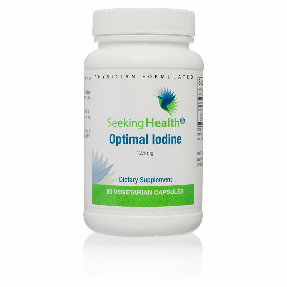 Optimal Iodine 12.5 mg Dietary Mineral Supplement 90 Capsules - Seeking Health
