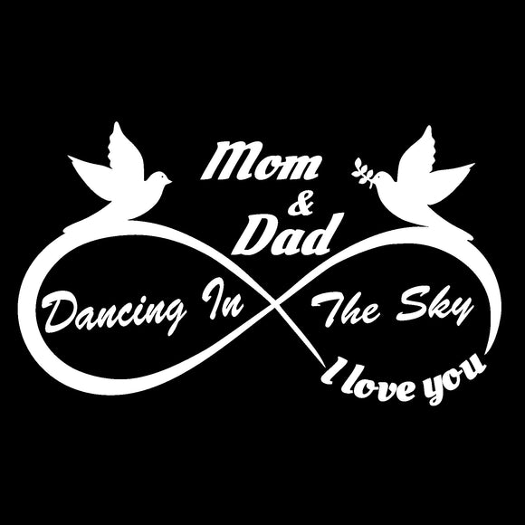 Mom and Dad - I Love You Forever - Dancing in the Sky Decal