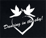 Dancing in the Sky Logo Tshirt Womens Cut Soft Cotton Heather Gray or Black