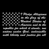 Pledge of Allegiance To The Flag - Decal White with Field of  50 Stars