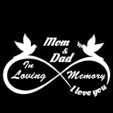 Mom and Dad - I Love You Forever - In Loving Memory