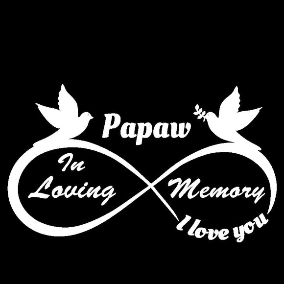 Papaw - I Love You Forever - In Loving Memory