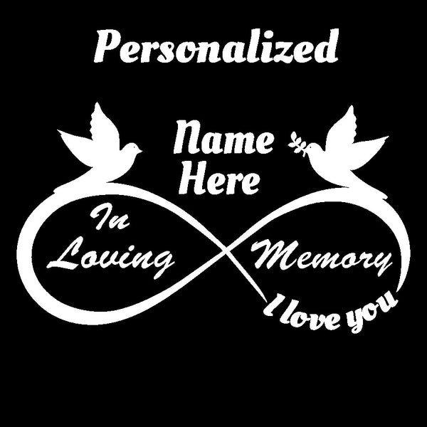 Personalized - Add First & Last Name In Loving Memory Design